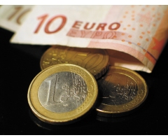 Image of Euro Bills And Coins